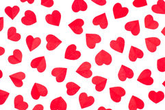 Background paper red hearts Stock Photos