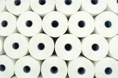 Background from paper rolls. Abstract view of Industrial roll of paper Royalty Free Stock Photos