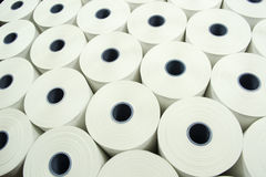 Background from paper rolls. Abstract view of Industrial roll of paper Stock Images