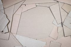 Background of paper textures piled ready to recycle. A pack of old office cardboard for recycling of waste paper. Pile of. Wastepaper stock photography