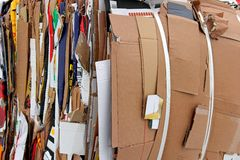 Background of Paperboard for Recycling Royalty Free Stock Photos