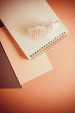 Background of papers and brushes Royalty Free Stock Images
