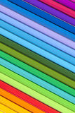 Background of parallel colorful pencils, close up.  Stock Photos
