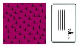 Background paris.calling card. Vector. Illustration Stock Photos