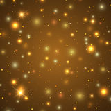 Background with particles and stars Royalty Free Stock Photography