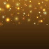 Background with particles and stars Royalty Free Stock Photos
