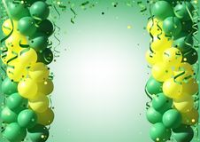 Background with Party Balloons and Confetti Royalty Free Stock Photos