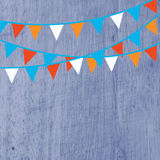 Background for party with flags Stock Photography