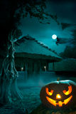 Background for a party on Halloween night vector illustration