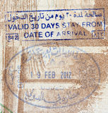 Background of passport stamps closeup Royalty Free Stock Photo