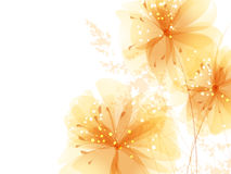 Background with pastel flowers Royalty Free Stock Photos