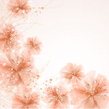Background with pastel flowers Stock Photos