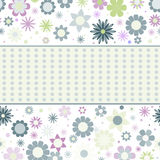 Background with pastel flowers and dots Royalty Free Stock Photos