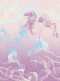 Background of pastel smokes. Delicate smokes in diffrent pastel colour Stock Image