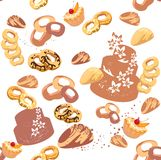 Background with pastries Royalty Free Stock Photos