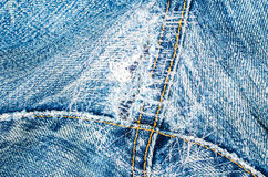 Background of patch blue jeans texture Royalty Free Stock Photo