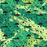 Military seamless pattern Royalty Free Stock Photos