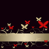 Background with pattern of abstract  butterflies Royalty Free Stock Image