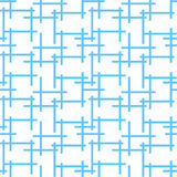 Background pattern with abstract endless blue net maze Stock Photos