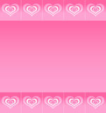 Background with pattern of abstract hearts Royalty Free Stock Photos