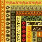 Background pattern with African motifs Royalty Free Stock Photo
