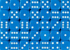 Background pattern of blue dices, random ordered stock images