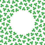 Background pattern border frame with clover leaves Royalty Free Stock Images