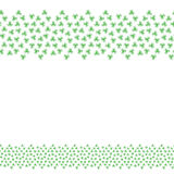 Background pattern border frame with clover leaves Royalty Free Stock Image