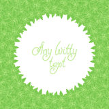 Background pattern border frame with mint leaves Stock Photography