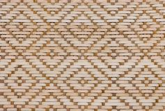 Brown Bamboo Texture of Basket Weave Pattern. Background Pattern, Brown Handicraft Weave Texture Wicker of Bamboo Plant for Furniture Material Stock Photo