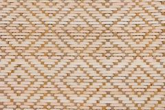 Brown Bamboo Texture of Basket Weave Pattern Stock Image