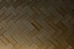 Closed Up of Bamboo Texture of Basket Weave Pattern Royalty Free Stock Photo