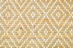 Closed Up of Bamboo Texture of Basket Weave Pattern. Background Pattern, Brown Square Handicraft Weave Texture Wicker of Bamboo Plant for Furniture Material Royalty Free Stock Images