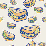 Background pattern of cheese sandwiches Stock Photo