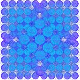 Background pattern of circles. Undulating shapes. Semi-transparent objects. Grunge background Royalty Free Stock Image