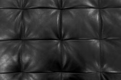 Texture of Black Upholstery Leather Pattern Background. Background Pattern, Closed Up of Abstract Texture of Luxury Black Leather Sofa or Upholstery Royalty Free Stock Photo