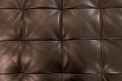 Horizontal Brown Upholstery Leather Pattern Background. Background Pattern, Closed Up of Abstract Texture of Luxury Brown Leather Sofa or Upholstery Stock Photos