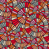 Background pattern with colorful circle mosaic art Royalty Free Stock Photos