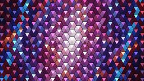 Background with a pattern of convex triangles. A multi-colored shimmering plane.