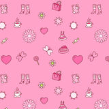 Background pattern with female things Royalty Free Stock Photo