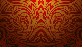 Background pattern with fire flame swirls Stock Photo