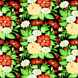 Background with a pattern of flowers Stock Image