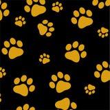 Gold dog paw Stock Image