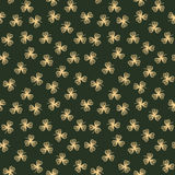 Background pattern with golden contour clover leaves Royalty Free Stock Photography