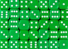 Background pattern of green dices, random ordered. Pattern background of green dices, random ordered stock photography