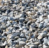 Background Pattern of Grey Rocks Stock Photo