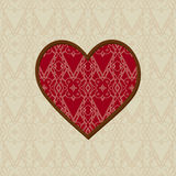 Background with a pattern and a heart Royalty Free Stock Photos