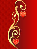 Background with pattern with heart from gild Stock Photos
