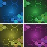Background pattern with hexagon shapes. Illustration royalty free illustration