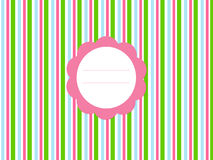 Background pattern for an invitation. Colorful card for an invitation in colors green, blue and pink Stock Photos